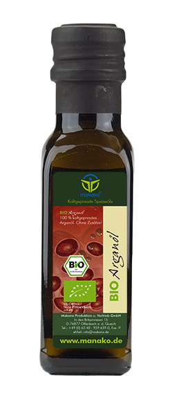 Organic Argan Oil from Morocco, 100 ml bottle
